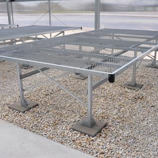 Stationary Greenhouse Bench - 4X8